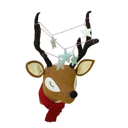 Cabeza de Reno de Navidad