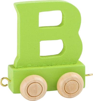 B (Verde) - Tren de letras