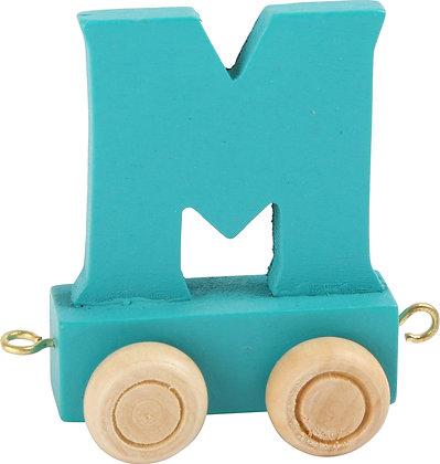 M (Turquesa) - Tren de letras