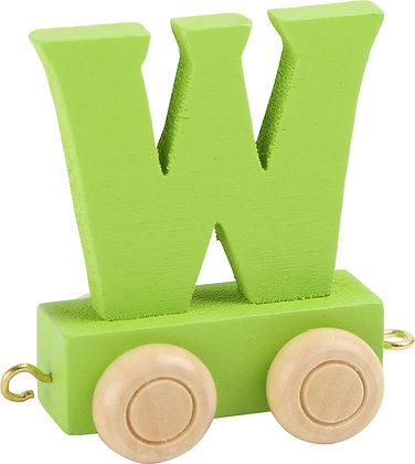W (Verde) - Tren de letras