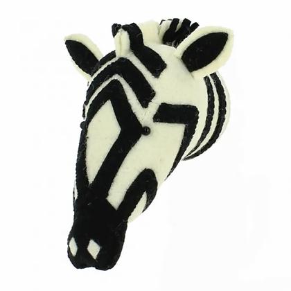 Cabeza de cebra en blanco y negro - Mini