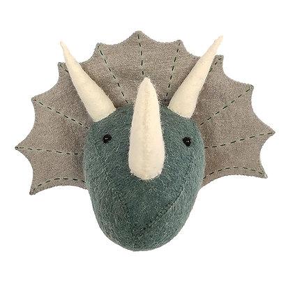 Triceratops Dinosaur Head Azul/Gris - Mini