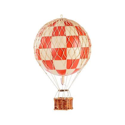 ¡Nuevo! Authentic Models Globo aerostático mediano 18cm - Cuadros Rojo