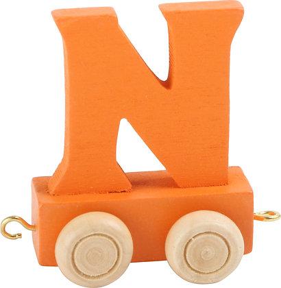 N (Naranja) - Tren de letras