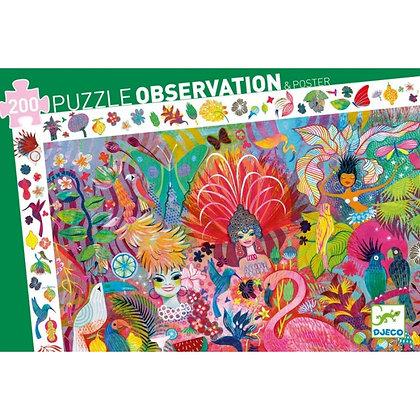 Djeco Observación Puzzle Carnival - 200 Pieces
