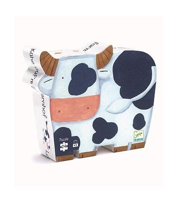 Djeco Silhouette Puzzle Vaca - 24 Pieces