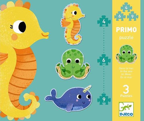 Djeco Puzzle Primo, en el Mar - 3 puzzles