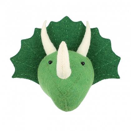 Triceratops Dinosaur Head - Mini