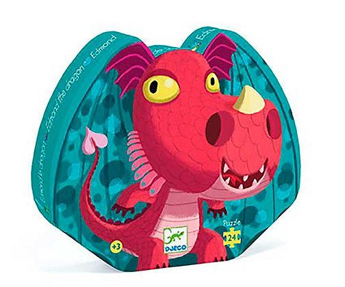 Djeco Silhouette Puzzle Edmond el dragón - 24 Piezas