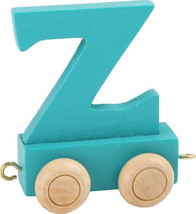 Z (Turquesa) - Tren de letras