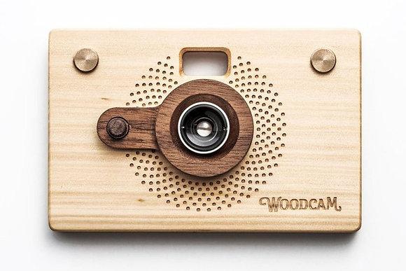 Cámara digital de madera para apuntar y disparar