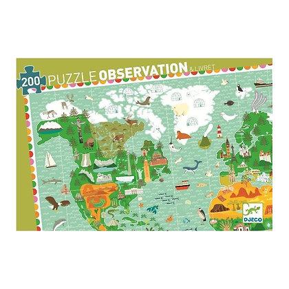 Djeco Observación Puzzle Los Monumentos del mundo - 200 Pieces