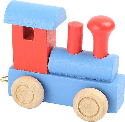 Locomotora Rojo & Azul - Tren de letras
