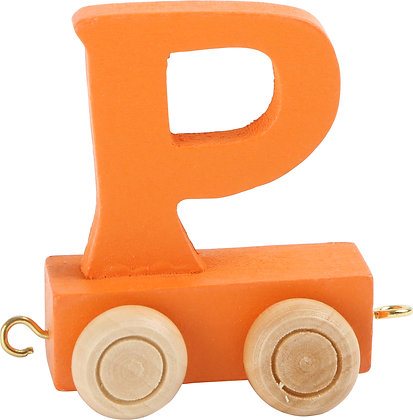P (Naranja) - Tren de letras