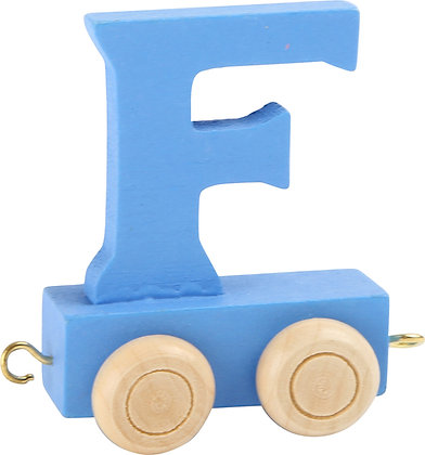 F (Azul) - Tren de letras