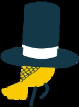Colombe dans le chapeau