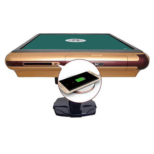 USB充电玫瑰金边框+深绿台面|Rose Gold Frame USB Charging Table + Dark Green Sheet