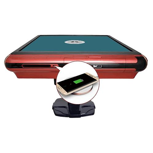 USB充电富贵红+深绿台面 | Cinnabar Red Frame USB Charging Table +Dark Green Sheet