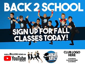 Back to School - Back to Ninja Kidz -FLY