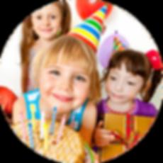Girls enjoying a Birthday party
