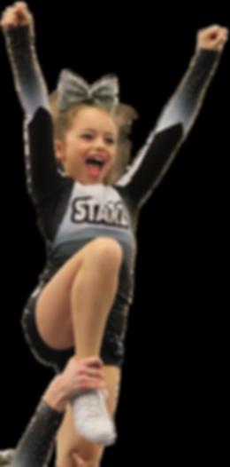 Girl doing cheerleading