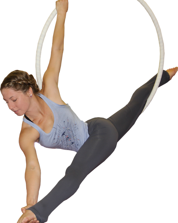 Girl on Lya an acrobat
