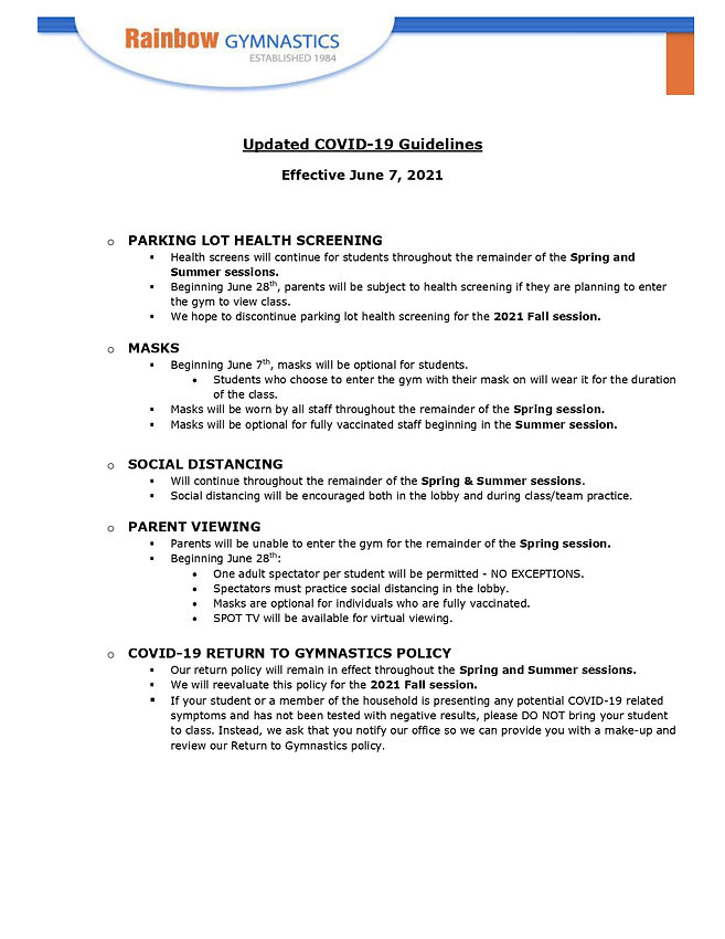 Updated COVID 19 Guidelines - June 2021_