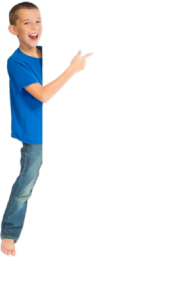 boy promoting gymnastics classe