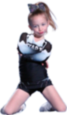 Girl posing on cheerleading outfit