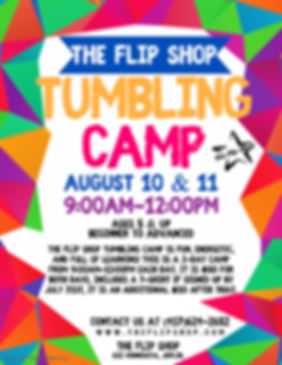 August 2020 Tumbling Camp - Made with Po