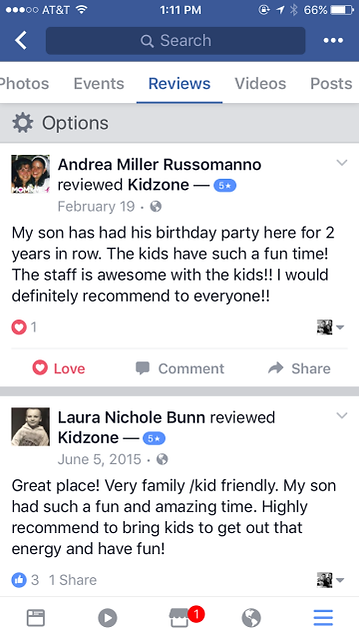 Reviews of Kidzone
