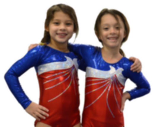 girls learning gymnastics