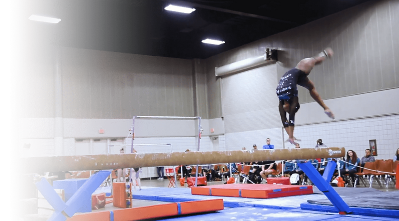 Gymnastics, meet, competition, competitive, gymnast, beam, texas tough