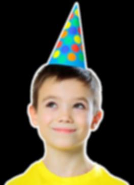 boy celebrating a birthday