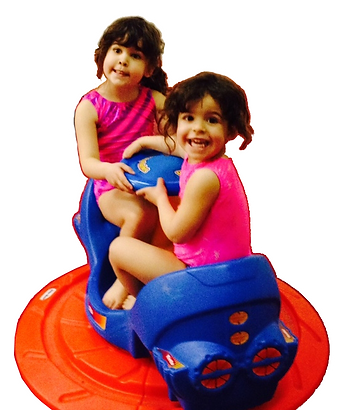 little girls playing together