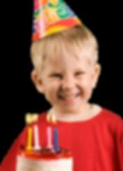 kid celebrating a birthday