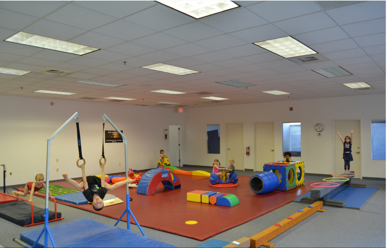 little kids at gymnastic facility