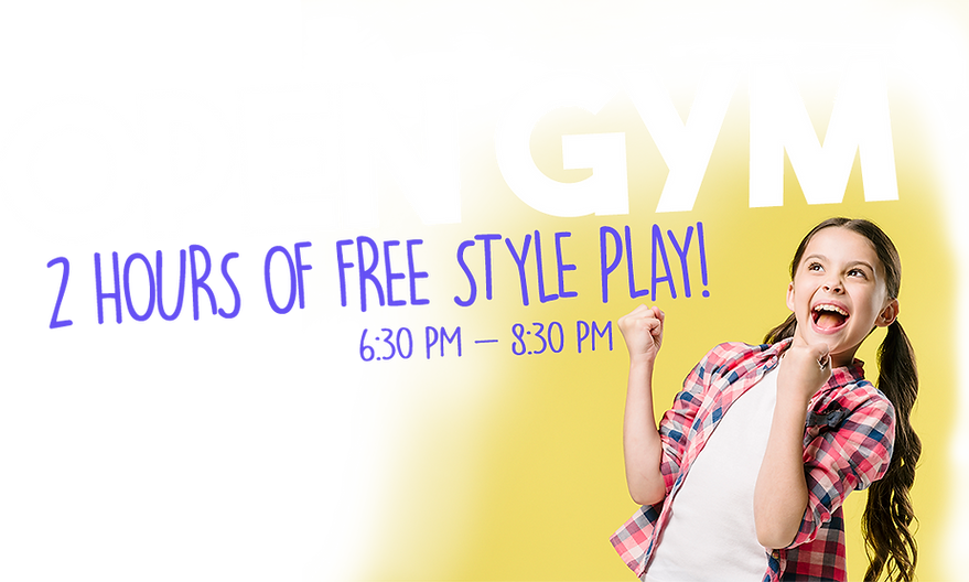 Open Gym is certainly a fun event for all children ages 3-12 Orlando Winter Garden Gymnastics USA
