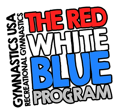 5-12 year old gymnastics Red White Blue Program in Winter Garden Fl