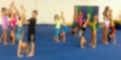 kids spoting handstands