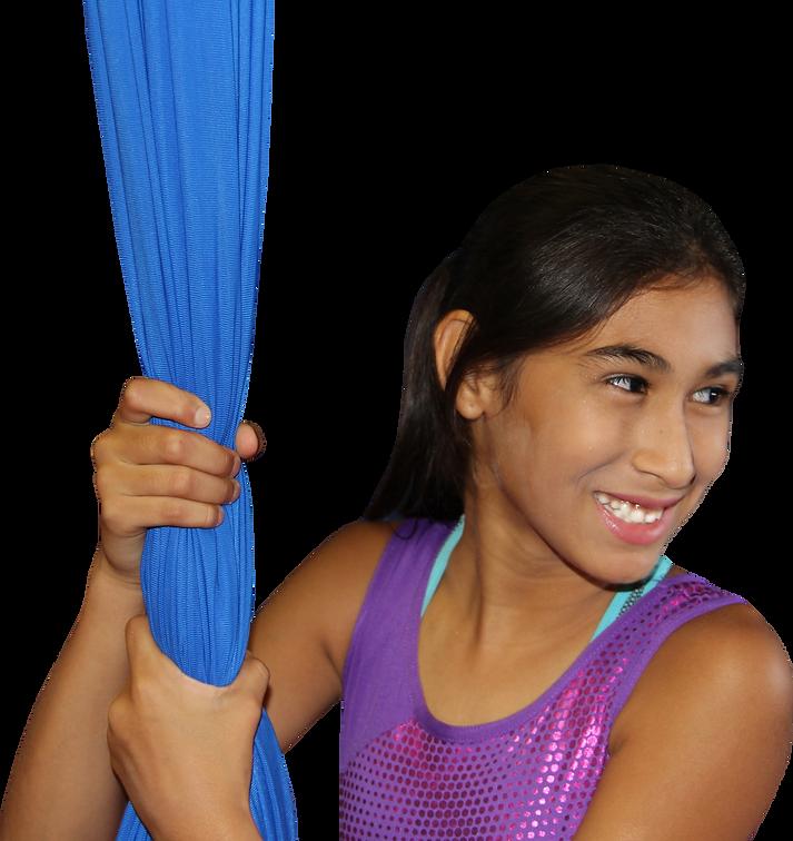 Silks Girl doing aerial silks