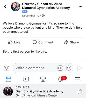 reviews of diamond gymnastics