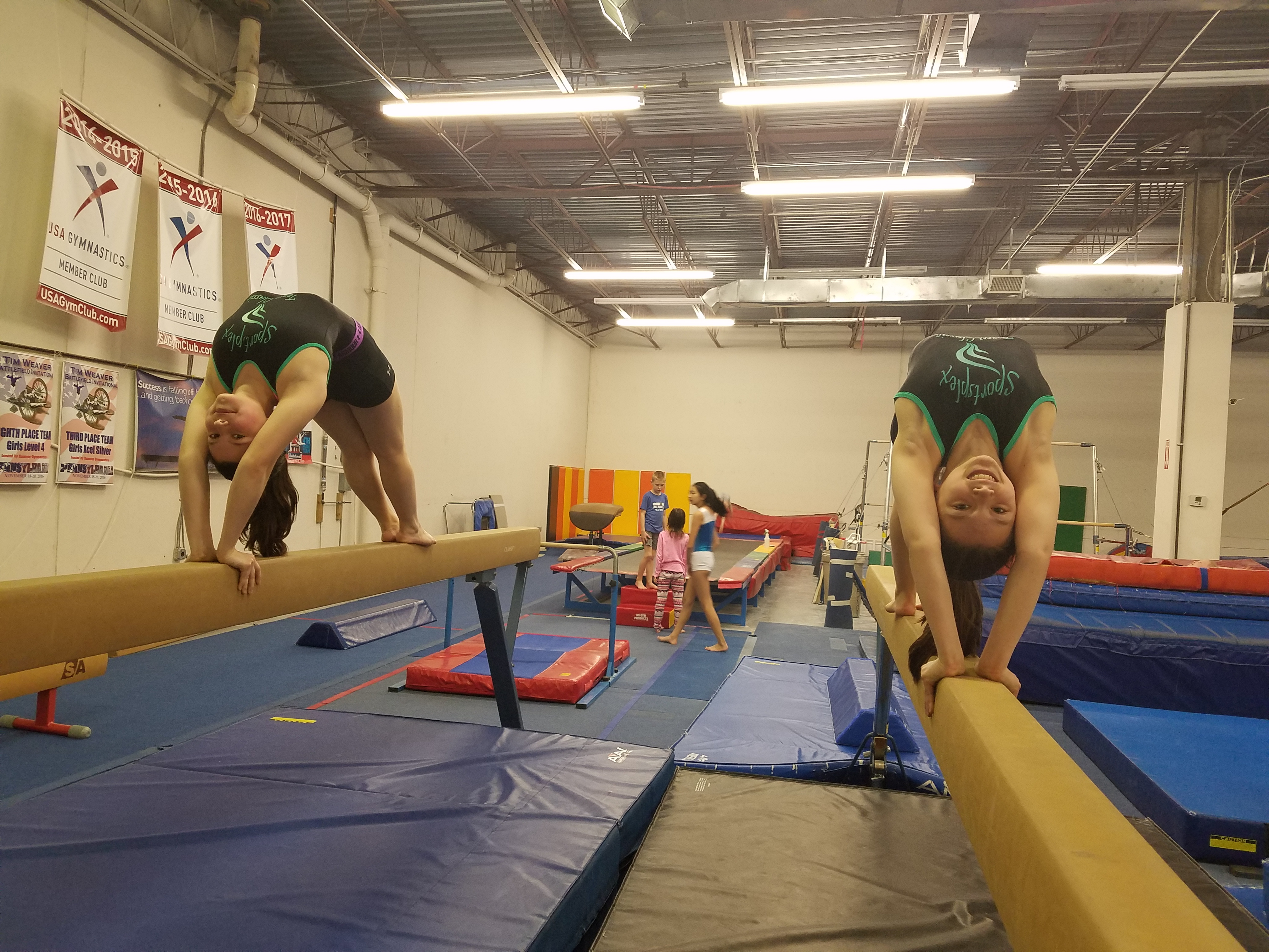 back extension on beam