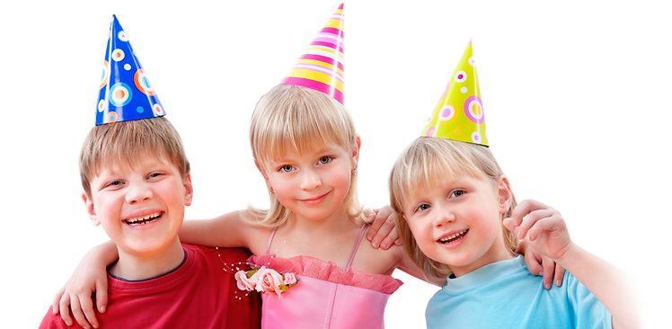 kids celebrating a birthday party