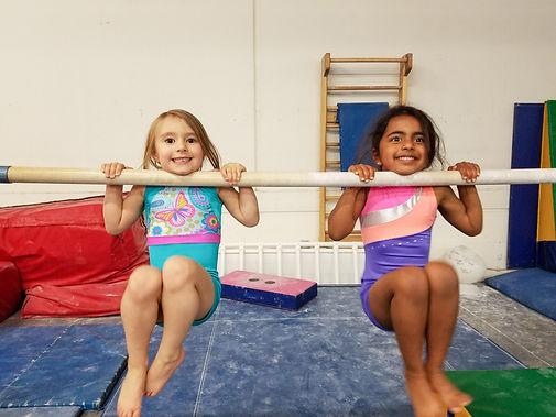 little girls doing pull ups