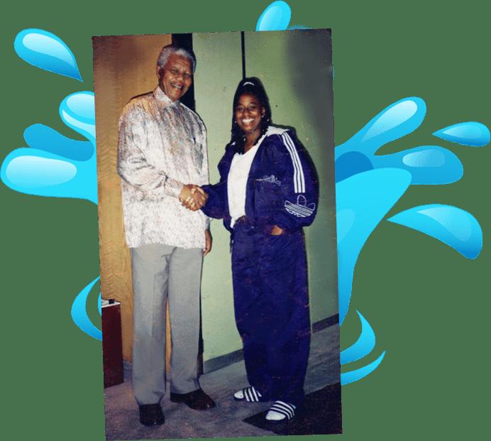 Nelson Mandela, Diva Sinclair, Olympi Swimmer, Olympi Diver meets Nelson Mandela