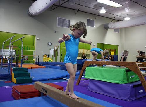 Girl on gymnastics class