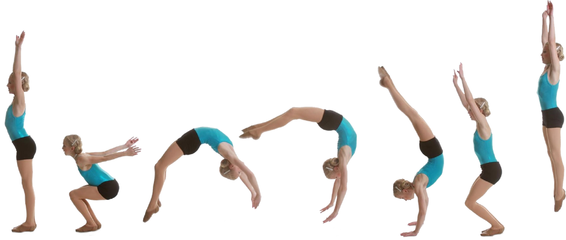 girl doing back handspring