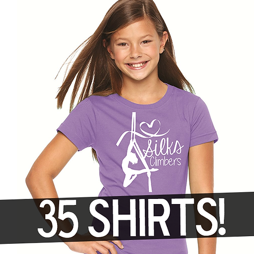 BULK PACK: 35 I Heart Silks Shirt!