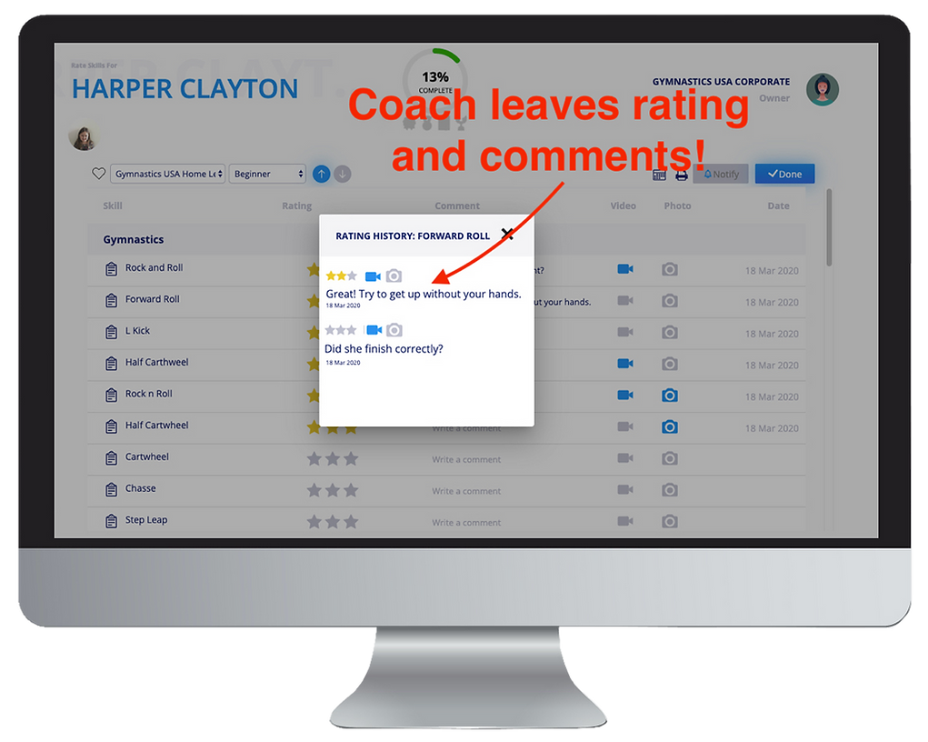 how to skill track your students on myskillchart.com